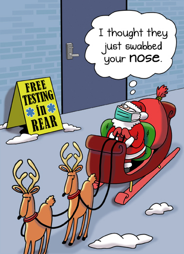 Santa Testing  Ecard Cover