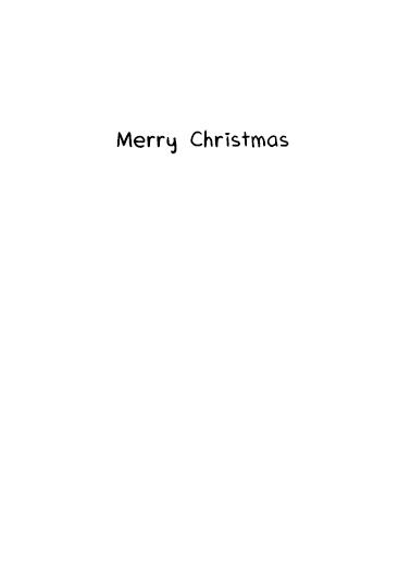 Santa Ventriloquist Christmas Card Inside