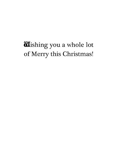 Santa and Mrs Christmas Card Inside