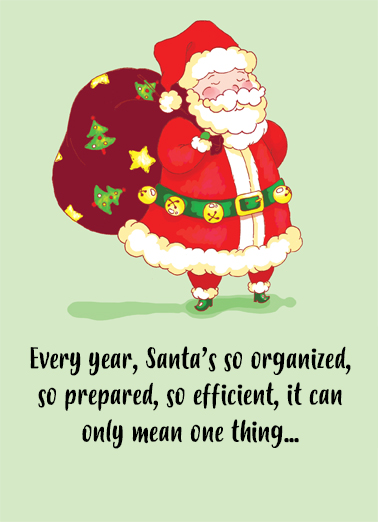 Santa is Woman Christmas Ecard Cover