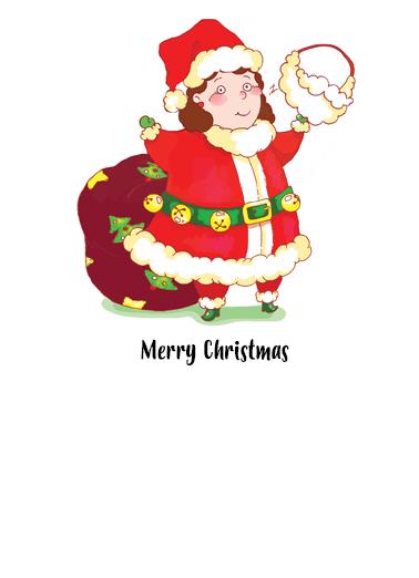 Santa is Woman Christmas Ecard Inside
