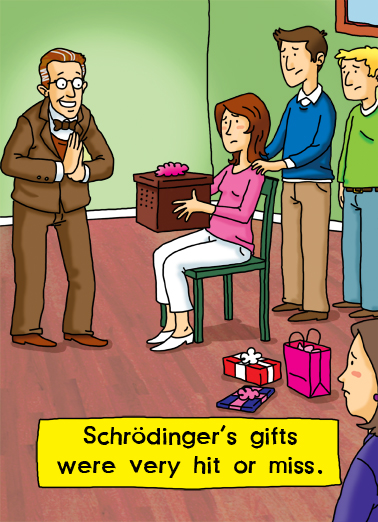 Schrodinger Birthday Card Cover