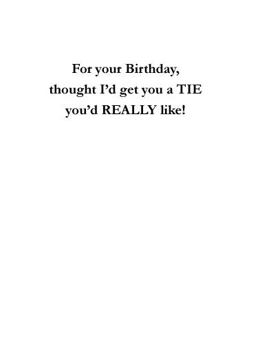 Scorecard Birthday Card Inside