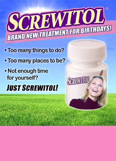 Screwitol Birthday Card Cover