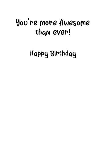 Selfie Gal Birthday Card Inside