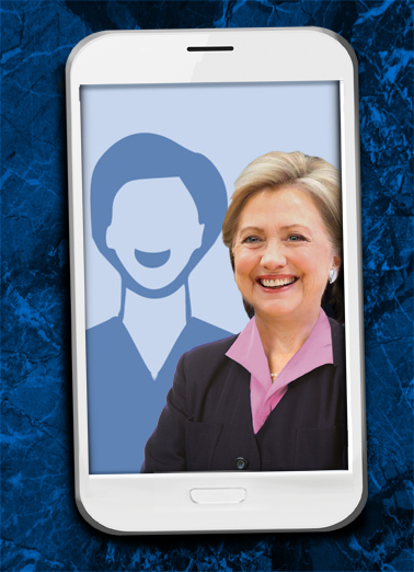 Selfie Hillary FD Father's Day Card Cover