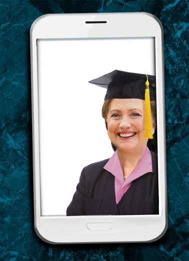 Selfie Hillary Grad Graduation Card Cover