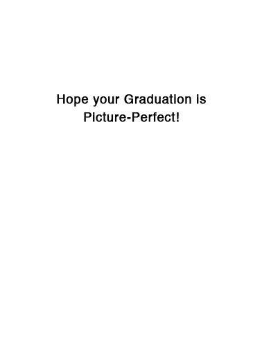 Selfie Hillary Grad Graduation Ecard Inside