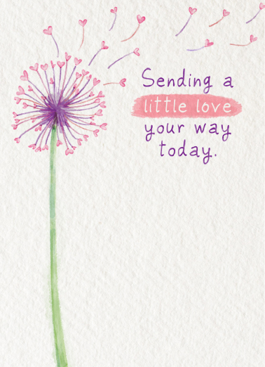 Sending Little Love One from the Heart Card Cover