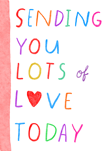 Sending You Lots of Love Birthday Card Cover