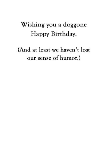Sense of Smell Birthday Card Inside
