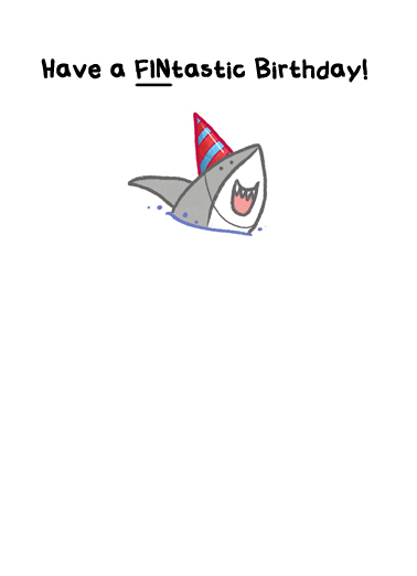 Shark Whole Week  Card Inside