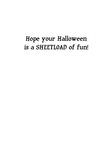 Sheet Fan Halloween Card Inside