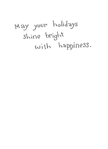 Shine Bright Hanukkah Card Inside