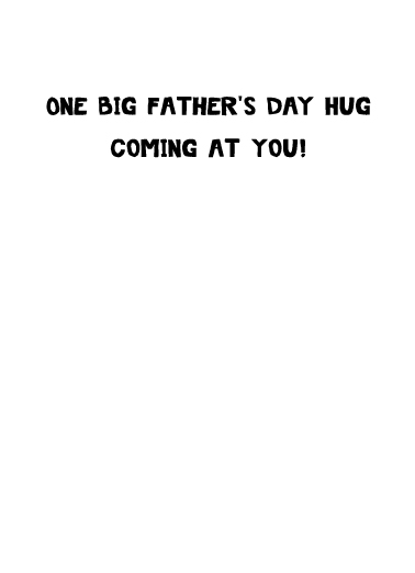 Smile Cat Hug FD Father's Day Card Inside