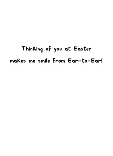 Smiling Bunny Simply Cute Ecard Inside