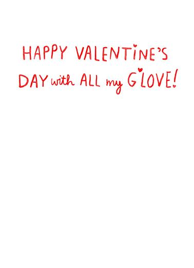 Smitten Bernie Valentine's Day Card Inside