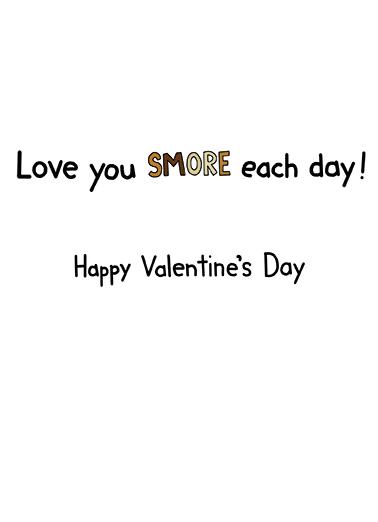 Smore Valentine's Day Card Inside
