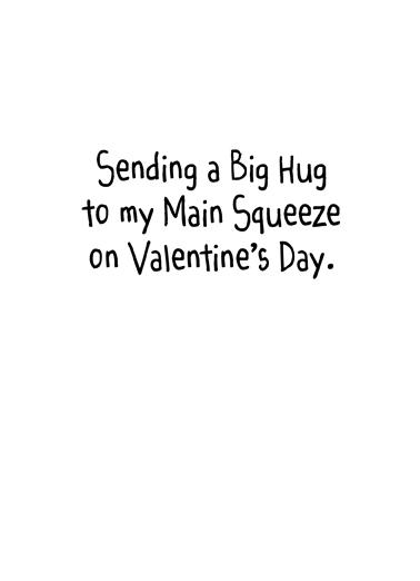 Snake Hug Val Valentine's Day Card Inside
