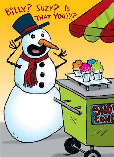 Snow Cone Holiday Happy Holidays Card Cover