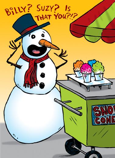Snow Cone Holiday Christmas Ecard Cover