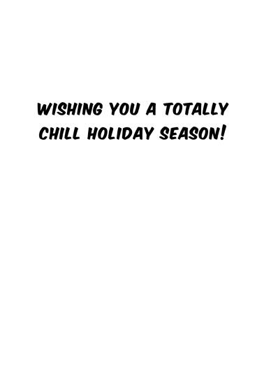 Snow Cone Holiday Happy Holidays Card Inside