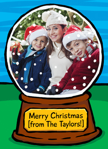 Snow Globe Christmas Card Cover