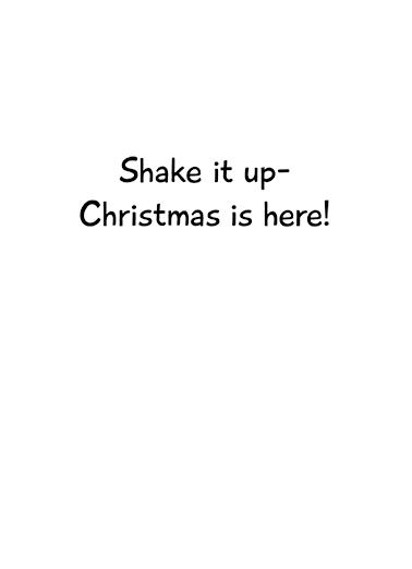 Snow Globe Christmas Card Inside