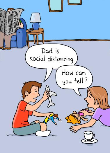 Social Distancing BDAY Birthday Card Cover