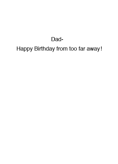 Social Distancing BDAY Birthday Card Inside