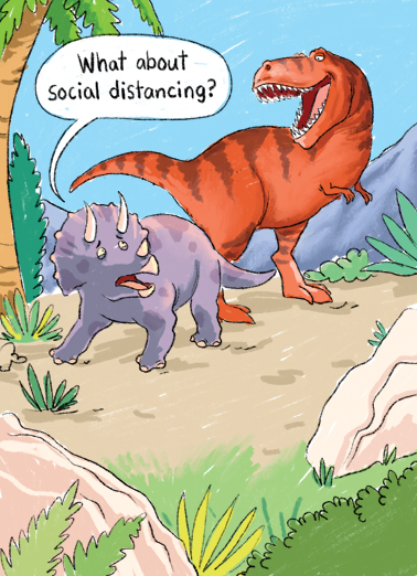 Social Distancing For Any Time Ecard Cover