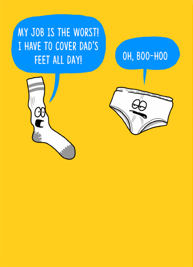 Sock and Underwear Father's Day Card Cover