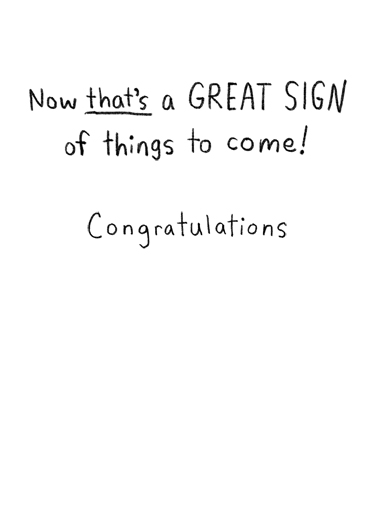 Sold Sign Congratulations Card Inside