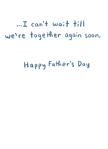 Sorry Late Father's Day Card Inside