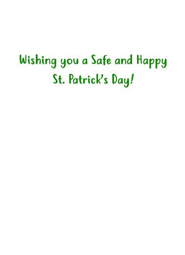 St Pat Mask St. Patrick's Day Card Inside