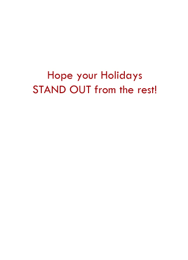 Stand Out Happy Holidays Card Inside
