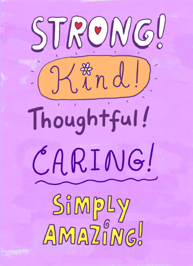 Strong Kind One from the Heart Card Cover