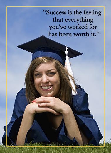Success Grad Upload Graduation Card Cover