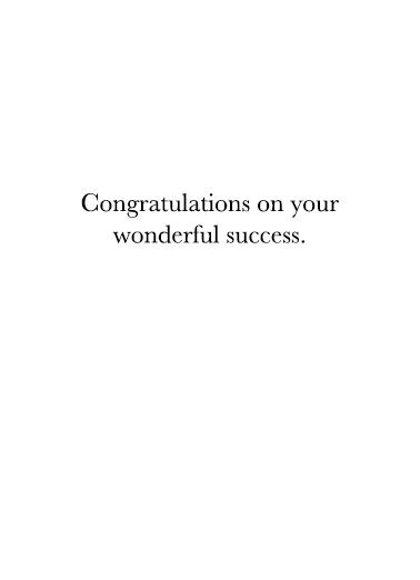 Success Grad Upload Graduation Card Inside
