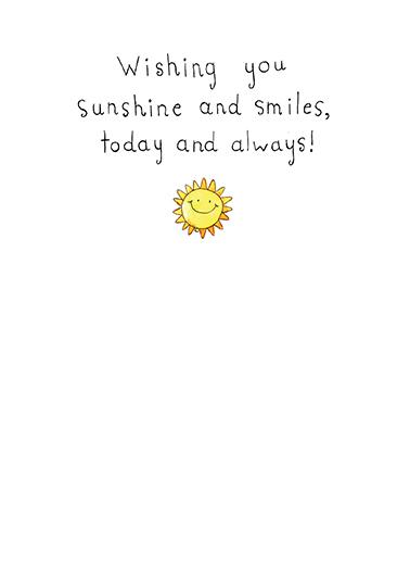 Sunshine and Smiles hi Say Hi Card Inside