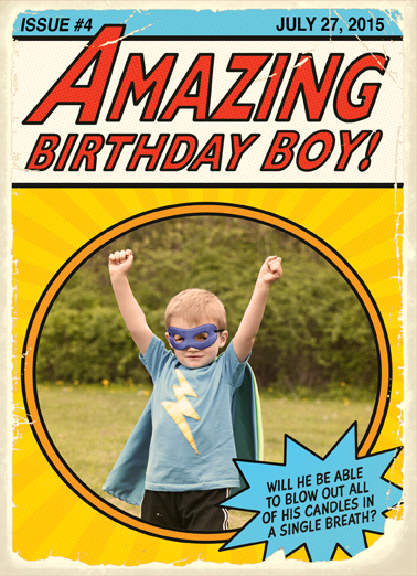 Super Birthday Add Your Photo Ecard Cover