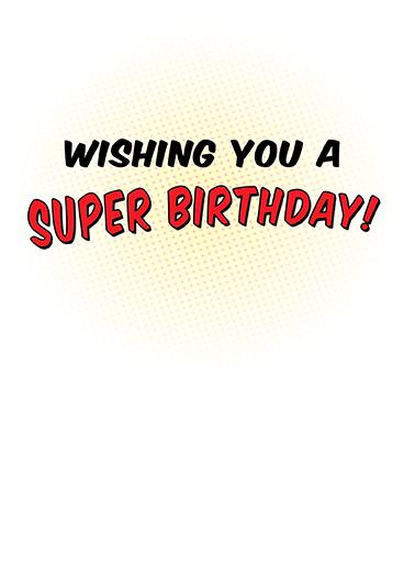 Super Birthday Birthday Card Inside