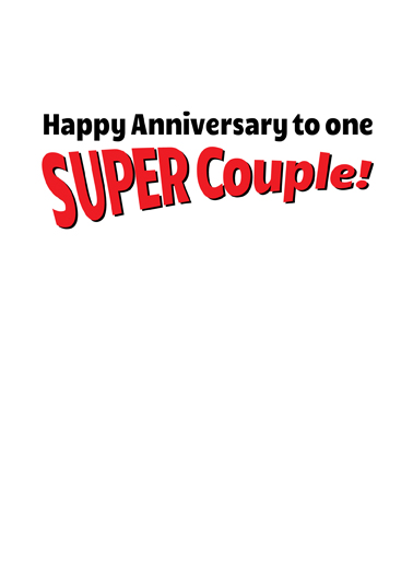 Super Couple Anniversary Card Inside