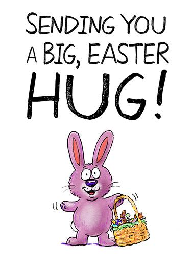 Sweet Easter Hug Easter Ecard Cover