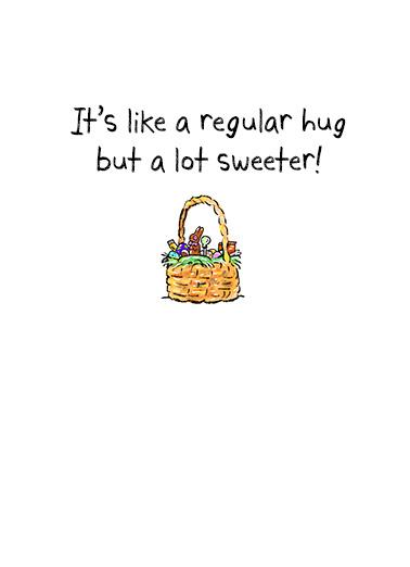 Sweet Easter Hug Easter Ecard Inside