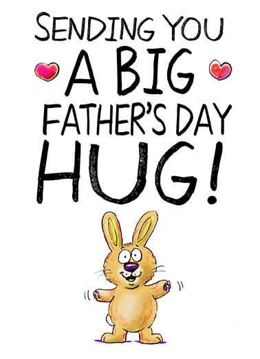 Sweet Father's Day Hug Father's Day Card Cover
