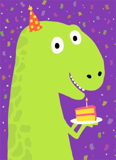 T Rex Cake Birthday Card Cover