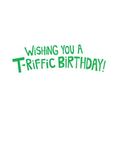 T Rex Cake Birthday Card Inside