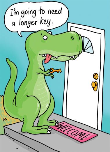 T-Rex key Congratulations Card Cover