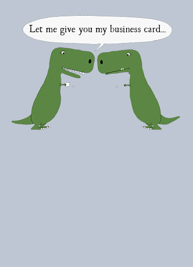 TRex Business Card Business Cards Card Cover